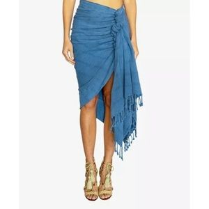 NWT JUST BEE QUEEN OliveLa tulum knotted wrap Lrg